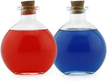 Round Glass Spherical Bottles, Potion Bottles with Corks (2-Pack, 8-Ounce Capacity)