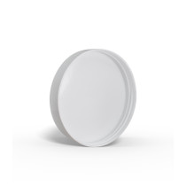 53-400 White Smooth Skirt Smooth Skirt Lid with (HIS) Heat Seal Liner- Bag of 100