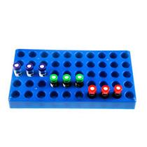 (1 Pack) Vial Rack, Single Blue Holds 50 Standard 12mm 2mL Vials