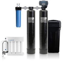 Aquasure Signature Series Complete Whole House Water Treatment System w/water softener, Water Conditioner & 75GPD RO System (48,000 Grains)