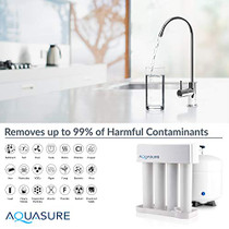 Aquasure Signature Series Complete Whole House Water Treatment System w/water softener, Water Conditioner & 75GPD RO System (32,000 Grains)