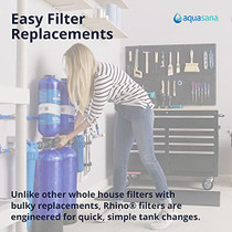 Aquasana Whole House Well Water Filter System - Water Softener Alternative w/ UV Purifier, Salt-Free Descaler, Gl,EQ-WELL-UV-PRO-AST,(Pack of 1, 4 Boxes Per Pack)