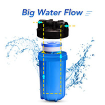 """5 Micron 10"""" x 4.5"""" Whole House Water Filter Compatible with GE FXHTC, GXWH40L, RFC-BBSA, W50PEHD, Whirlpool WHKF-GD25BB, GXWH35F, GNWH38S, Dupont WFHD13001, Pentek R50-BB, 4WH-HDGR-F01 2PACK"""