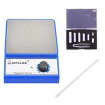 INTLLAB Magnetic Stirrer with 7PCS stir bar Set and stir bar Retriever