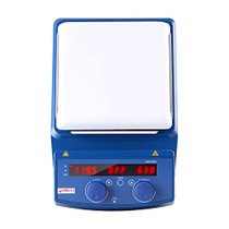 4E's Scientific Lab Digital Magnetic Hot Plate Stirrer   LED Display with Temperature   Large 20L Ceramic Hot Plate with Magnetic Stirrer   50-1500RPM   Temperature Probe   3YR Warranty