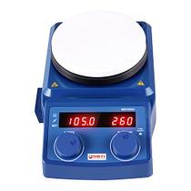 Four E's 5 Inch LED Digital Hotplate Magnetic Stirrer with Temp Probe Sensor and Stir Bar, 50-1500RPM -3YR Warranty