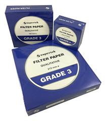 Filter Paper, Qualitative, Grade 3, 215 mm (Diameter) Pack of 100 Sheets