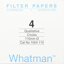 Whatman - 1004110-100 4712N25PK 1004110 Grade 4 Qualitative Filter Paper, 110 mm Thick and Max Volume 1621 ml/m (Pack of 100)