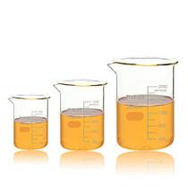 ULAB Scientific Glass Beaker Set, 3 Size of Vol. 500ml 1000ml 2000ml, 3.3 Borosilicate Griffin Low Form with Printed Graduation, UBG1028