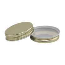 43-400 Gold Metal CT Lid with Plastisol Liner- Bag of 200