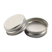 28-400 Silver Metal CT Lid with Plastisol Liner - Bag of 200
