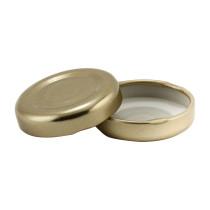 38-2000 Gold Button Metal Lug Lid- Bag of 200