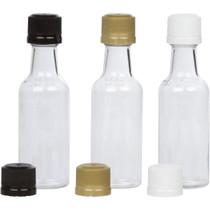 12 Mini Liquor Bottles small 50ml mini empty plastic mini alcohol bottle shots + Gold Caps
