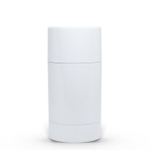 70g White Twist Up Deodorant Tube with White Screw Cap and Disc Set of 100