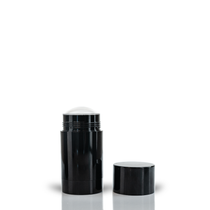70g Glossy Black Twist Up Deodorant Tube with Black Screw Cap and Disc Set of 100