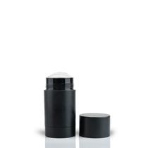 70g Matte Black Twist Up Deodorant Tube with Black Screw Cap and Disc Set of 100