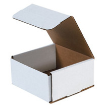 Boxes Fast BFM663 Corrugated Cardboard Mailers, 6 x 6 x 3 Inches, Tuck Top One-Piece, Die-Cut Shipping Cartons, Small White Mailing Boxes (Pack of 50)