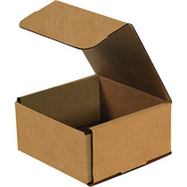 Boxes Fast BFM663K Corrugated Cardboard Mailers, 6 x 6 x 3 Inches, Tuck Top One-Piece, Die-Cut Shipping Cartons, Small Brown Kraft Mailing Boxes (Pack of 50)