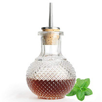Bitters Bottle for Cocktails - Glass Bitters Bottle with Stainless Steel Dash Antique Design Professional Grade Home Ready Restaurantware DSBT0002 (220ml)