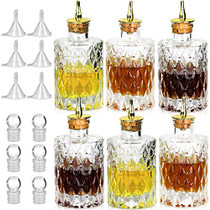 Bitters Bottle - Jewel Bitter Bottle For Cocktail, 6oz / 175ml, Glass Dahs Bottle With Gold Plated Cork Dasher Top - DSBT0011 (6, Gold)