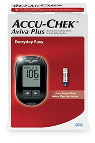 Accu-Chek Aviva Meter Blood Glucose Diabetes Testing Kit with Aviva Meter, SoftClix Lancing Device, and 10 Lancets