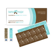 KETO-MOJO Test Strip Combo Pack for Use ONLY with The New GK+ Meter | 60 Blood Glucose + 60 Blood Ketone (120ct)-1634329086