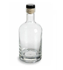 375 ml (12 oz) Heavy Base Liquor Bottle with Synthetic T-Top Cork - Case of 120