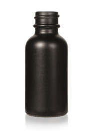 1 Oz Matt Black w/ White Glass Calibrated Dropper