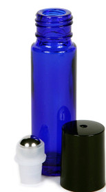 1/3 oz (10ml) Cobalt Blue Glass Roll on Bottles with Roller Ball and Cap