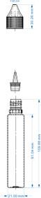 30 ML PET UNICORN BOTTLE WITH CRC & TEMPER EVIDENT (Chubby Gorilla)