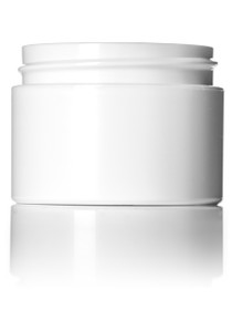 ( $0.65 ea. pk 560 ) 1 oz white PP/PS double wall straight base jar with white PP 53-400 smooth skirt lid with unprinted pressure sensitive (PS) liner