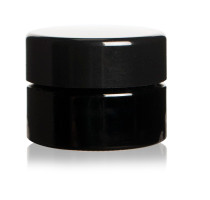 15 ml (0.5 fl oz) Pocket Size Black Ultraviolet Glass Screw Top Jar | Airtight Stash Container