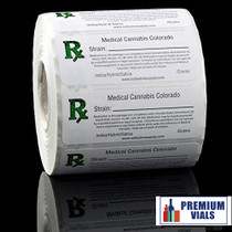 1000 pcs, Colorado Medical  Labels ROLL State Compliant Sticker