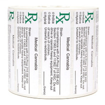California Medical  Labels ROLL State Compliant Labels