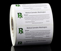 1000 pcs, Washington Medical  Labels ROLL State Compliant Sticker