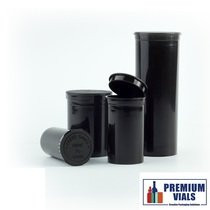 75 pcs, 60 Dram BLACK Green Pop Top Containers Full Cases, Best Medical Container Pop Top Bottles Pop Top Vial.