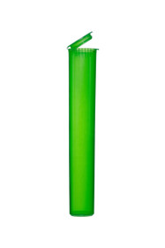 120 ml, 500 Pack, GREEN Pop Top Blunt Tubes for flower packaging