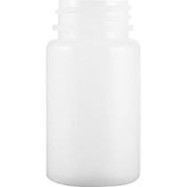 500 cc white HDPE pill packer bottle with 53-400 neck finish