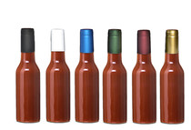 BURGUNDY Shrink Capsules for Glass Woozy Hot Sauce & Wine Bottles - Pack 30
