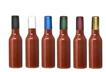 Gold Shrink Capsules for Glass Woozy Hot Sauce & Wine Bottles - Pack 30