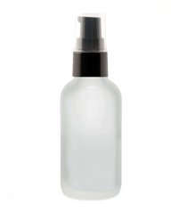 2 Oz Frosted Glass Bottle w/ Black Treatment Pump