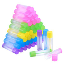 3/16 Oz (5.5ml) Lip Balm Chapstick Tubes, Multi-Color (Translucent) - pack of 50
