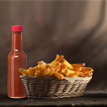 5 oz woozy hot sauce bottles with RED CAP - pack of 24
