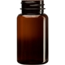 (Pk 470) 120 cc Dark Amber PET pill packer bottle with 38-400 neck finish