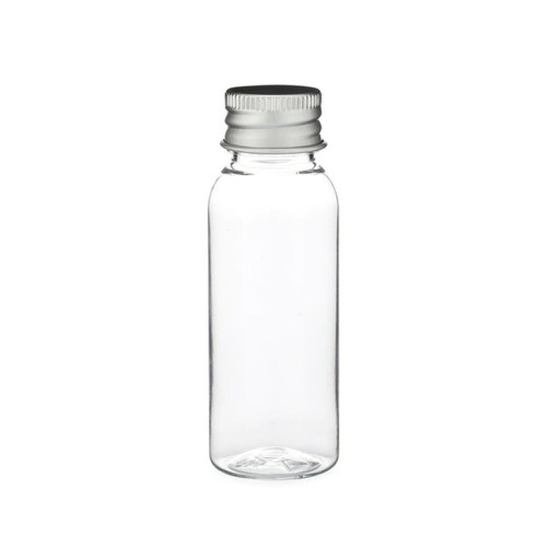 1 oz (30ml) CLEAR Glass Bottle with Silver 20-400 lid with foam liner