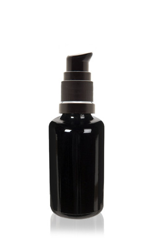 30 ml (1 fl oz)Ultraviolet Glass Bottle w/ Treatment Pump