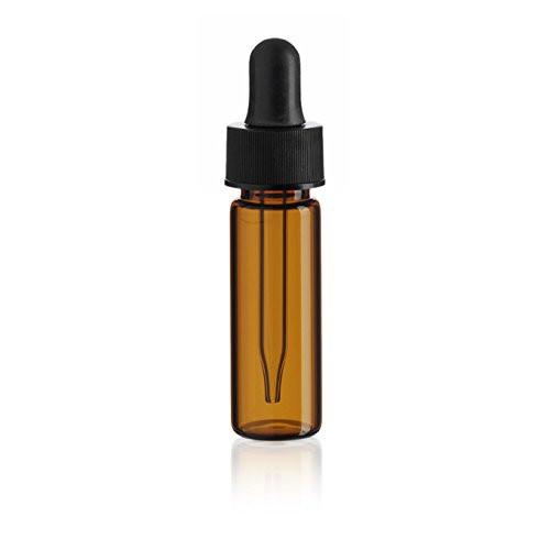 1 Dram Amber Glass Vial - w/Glass Dropper