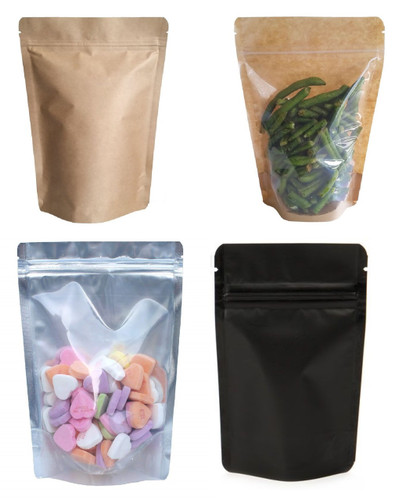 Two Ounces Barrier Bags Stand Up Zipper Pouches