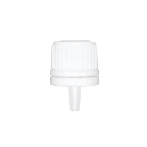 White PP 18 mm tamper-evident drop