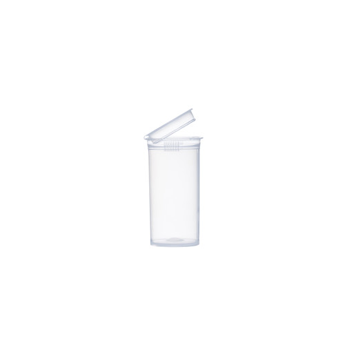 13 Dram Clear Child Resistant Pop-Top Bottles